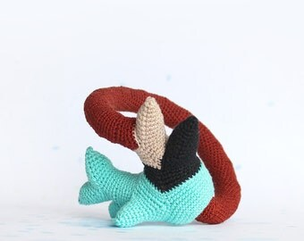 Crochet bangle - Northern coral