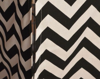 Designer or Solid Canvas Dog Crate Cover in ALL sizes - Choose from 100s of Premier Print Fabrics - Zig Zag Chevron Black/White shown