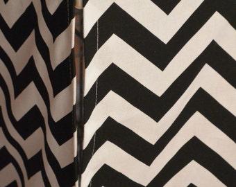 Designer Dog Crate Cover in ALL sizes - Choose from 100s of Premier Print Fabrics - Zig Zag Chevron Black/White shown