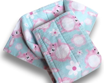 Burp Cloths. Prefold Cloth Diapers. Medium Size Reusable Cotton Flannel Baby Nappies. Changing Pads. Trifold Soaker Booster Insert With Zorb