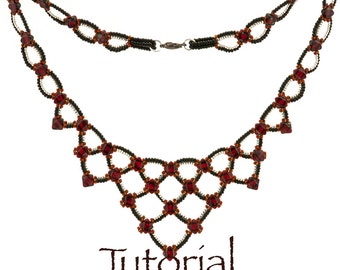 Seed Bead and Silky Bead Necklace Tutorial Selkie Girl Digital Download