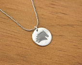 Horse Head Necklace unique handmade fine silver pendant on sterling chain western cowgirl necklace equestrian jewelry