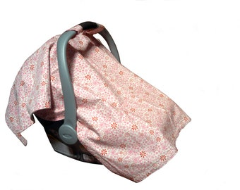 CLEARANCE Organic Infant Seat Canopy | Embroidery