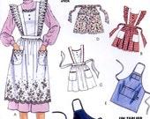Apron sewing pattern half or full apron or mens carpenter apron vintage 90s pattern McCalls 5174 crafts pattern Uncut