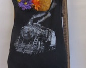 Reusable/Recycled Market/Tote Bag Train Engine Handmade by FashionGreenTBags