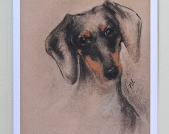 Doxie Dachshund Dog Art Note Cards By Cori Solomon