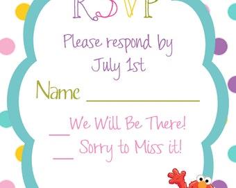 Sesame Street RSVP Card