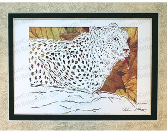 Cheetah Papercutting- Handcut Original