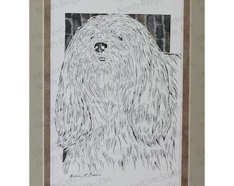 Lhasa Apso Papercutting- Handcut original