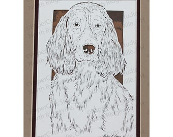 Springer Spaniel  Papercutting- Handcut Original