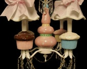 Children's Chandelier - Cupcake Nursery Chandelier - Kid's Room Lighting Fixture, Playroom Lighting