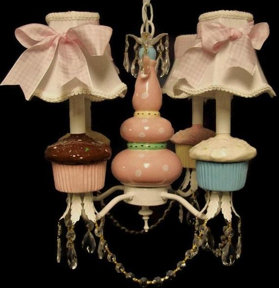 Cupcake Nursery Chandelier - Kid's Room Lighting Fixture, Playroom Lighting