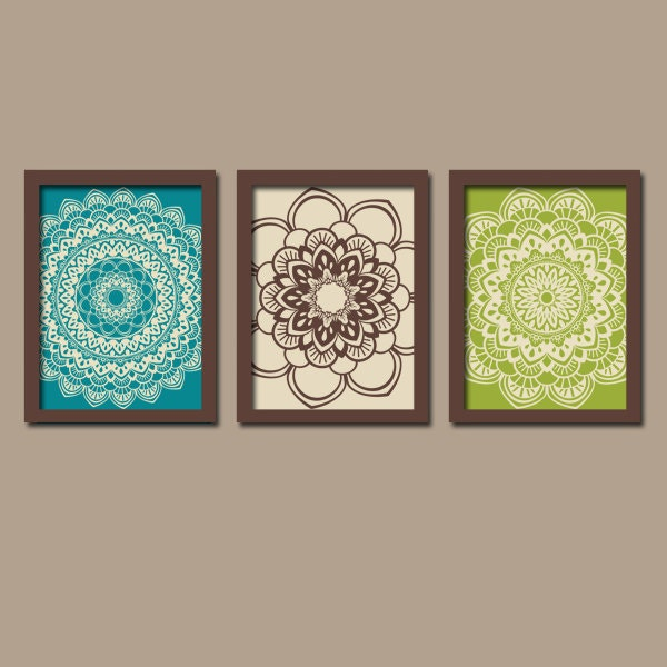 Turquoise Brown Wall Art Bedroom Pictures Canvas Or Prints