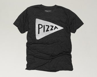 Mens Pizza T-shirt Black, back to school shirt, funny t-shirt, dad tshirt gift for him, gift for teen boy mens funny tshirt gift for him