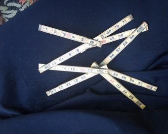 Wonderful Lufkin Old Wood  Folding Tape Measure Extension Ruler