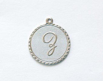 Matte Silver Plated Letter Z Initial Charm Drop with Loop (1) chr197Z