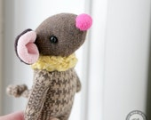 MOUSE pocket friend 3.75 inches mini plush soft sculpture