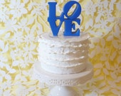 love wedding cake topper - standard colors