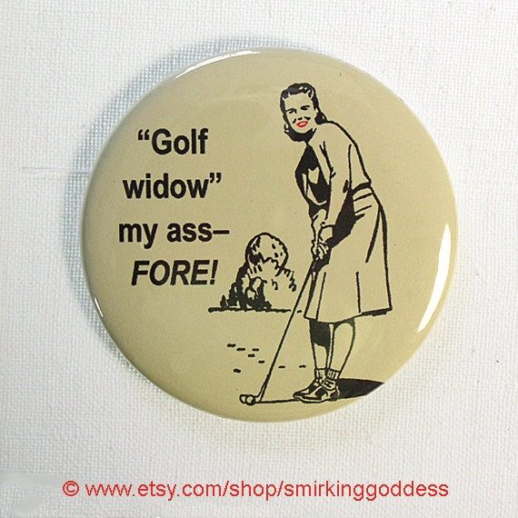 Funny Fridge Magnet Woman Golfer, Funny Golfer Fridge Magnet