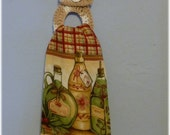 Kitchen Towel with Removable Cotton Towel Holder Olive Oil