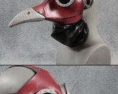 Ichabod, Steampunk Plague Doctor Mask in red