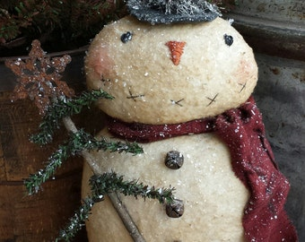 Instant Download Primitive Charlie Snowman  Epattern
