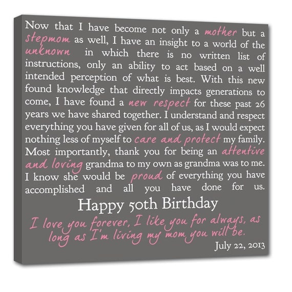 Gift Letters to Loved one REASONS We love Dad , Mom grandparents Personalized Sayings Word Art Canvas  20X20
