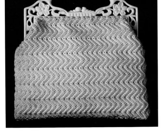 "Vintage Crochet Pattern 1930's Gimp Purse Pattern ""The Zig-Zag"" -INSTANT DOWNLOAD-"