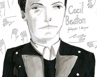 Cecil Beaton, drawing on paper