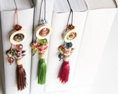 Boho gypsy vintage style gift bookmark home decor accent piece