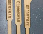 Laser Engraved Mini Hockey Sticks Best Man Gift, Groomsmen Gift, Birthday Gift HS1