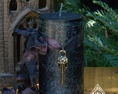 Raven . Norse Warrior Pillar Candles . Hidden Knowledge and Victory