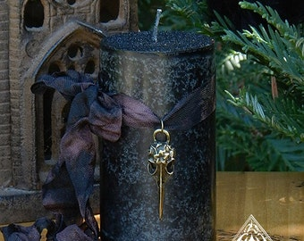 Raven . Norse Warrior Pillar Candles