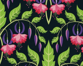Jane Sassaman Fuchsia Flower Rose fabric 1 yard