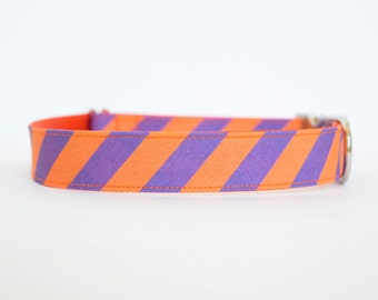 Dog Collar - Clemson Tigers Prepster Stripe