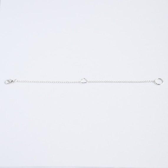 Silver heart delicate minimal bracelet on bright silver chain