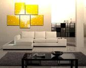 Huge Yellow Abstract Painting Large Original Textured Art Bright Happy Modern Sunny Yellow Contemporary Uplifting Art 56x40 Custom