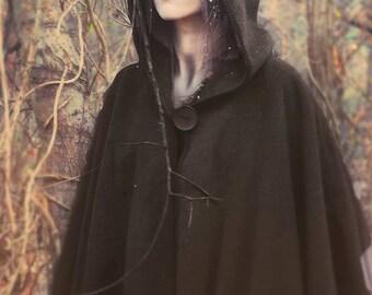 Renaissance Wool Cape - Hooded Cloak Full Length in Melton-Custom to Order