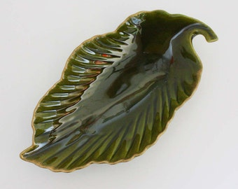 Vintage Leaf Plate by Freeman and McFarlin Potteries of California