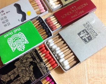 Vintage 1950s Matchbox & Matchbook Collection - Travel