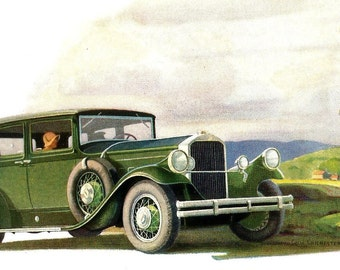 1930 Pierce Arrow Ad - Pierce Arrow 1930 Straight Eights - Cecil Chichester - Magazine Ad - Vintage Auto Advertisement - Vintage Car Ad