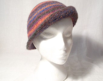 Cloche Bowler Derby Felt Hat  Knitting Pattern