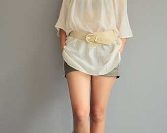 But the bird can fly...Bat wing blouse Linen