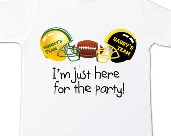 mommys team daddy's team rival football team shirt - college football, professional football team shirt