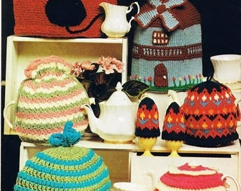 Knitted Windmill Tea Cosy, Cat Tea Cosy and More - Digital Knitting Pattern