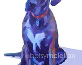 Digital Pet Portrait - Digital Illustration - Giclee Print