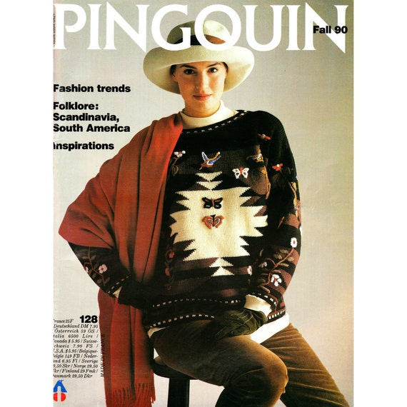 Pingouin Knitting Pattern Books : Pingouin 128 Knitting Pattern Book Over 36 by CorrinneExpressions