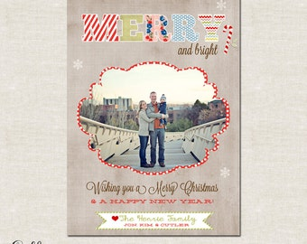 Merry- Custom Christmas Cards or Holiday Greeting Card
