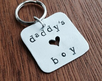 READY TO SHIP: Daddy's Boy Pet Tag - Aluminum Handmade Dog Tag - Gifts for Pets and Dog Lovers, Gift from the Dog. Handcrafted in Maine.
