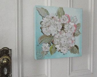 Hydrangea painting, original Wedding Flowers painting, Hand painted Hydrangeas art, Original  painting